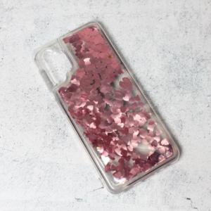 Maska Liquid Heart za Samsung A325F Galaxy A32 4G (EU) roze
