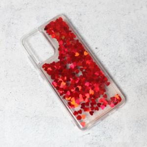 Maska Liquid Heart za Samsung A525F/A526B Galaxy A52 4G/5G (EU) crvena