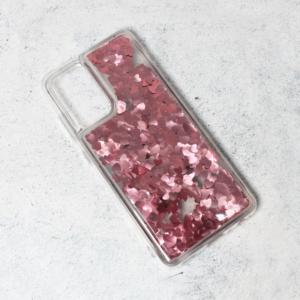Maska Liquid Heart za Samsung A525F/A526B Galaxy A52 4G/5G (EU) roze
