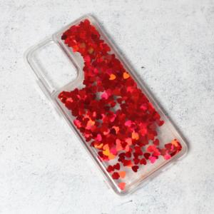 Maska Liquid Heart za Samsung A725F/A726B Galaxy A72 4G/5G (EU) crvena