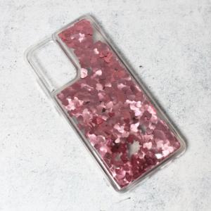 Maska Liquid Heart za Samsung A725F/A726B Galaxy A72 4G/5G (EU) roze