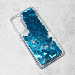 Maska Liquid Heart za Samsung G991B Galaxy S21 plava