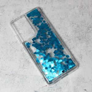 Maska Liquid Heart za Samsung G998B Galaxy S21 Ultra plava