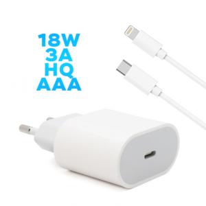 Kucni punjac PD Fast charger 18W 3A za iPhone 11/12 lightning beli HQ AAA