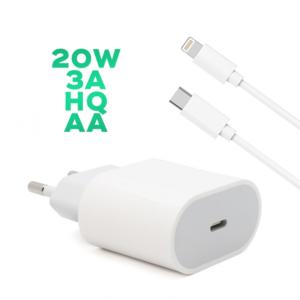 Kucni punjac PD Fast charger 20W 3A za iPhone 11/12 lightning beli HQ AA