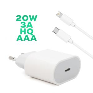 Kucni punjac PD Fast charger 20W 3A za iPhone 11/12 lightning beli HQ AAA