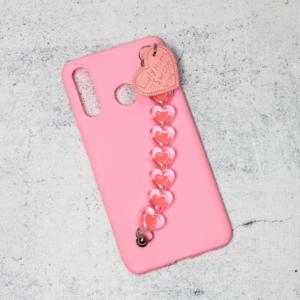 Maska Jewellery Heart za Huawei P30 Lite roze